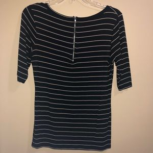 Green Envelope Tops - Black and Tan striped tee size M